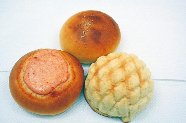 パン(雑穀あん、明太子マヨネーズ、メロンパン)